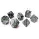 Set de 7 dés - Gemini noir-Gris/Vert