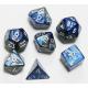 Set de 7 dés - Gemini Bleu-Acier/Blanc