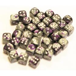 Set de 36 dés - Gemini Violet-Gris/Blanc