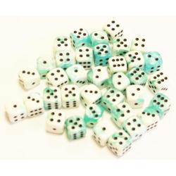 Set de 36 dés - Gemini Turquoise-Blanc/Noir