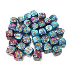 Set de 36 dés - Gemini Violet-Turquoise/Or