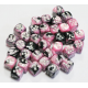 Set de 36 dés - Gemini Noir-Rose/Blanc