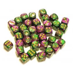 Set de 36 dés - Gemini Vert-Violet/Or