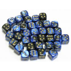 Set de 36 dés - Gemini Noir-Bleu/Or