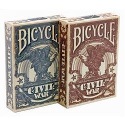 Jeu de 54 cartes bicycle Civil War