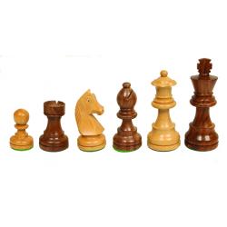 Jeu de pièces d'échecs buis / bois de rose n°3