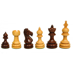 Jeu de pièces TAJ d'échecs buis / bois de rose n°3