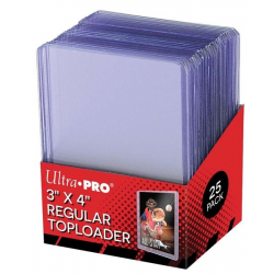 Paquet de 25 Toploader Regular Ultra Pro