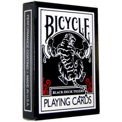 Jeu de 54 cartes bicycle Black Tiger