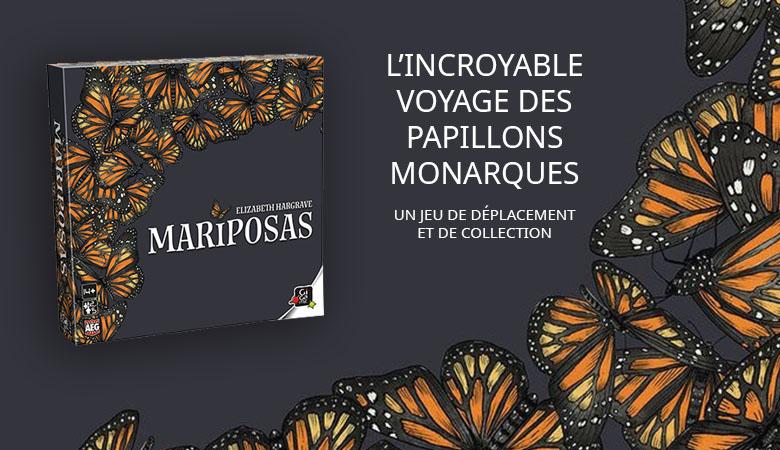 Mariposas, le jeu de collection et de déplacement de l'incroyable voyage des papillons monarques