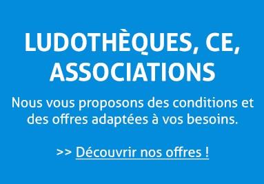 Prix jeux de société ludothèques, comité d'entreprise CE, associations